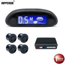 Hippcron Car Parking Sensor For Car With Auto Parktronic LCD Praking Radar Monitor Detector Backlight Display System 4 Sensors