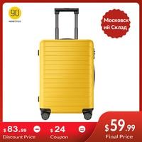 NINETYGO 90FUN Tragen Auf Gepäck 20 zoll 4-rad spinner Leichte Hardshell PC Koffer mit TSA Schloss für Reise business(China)