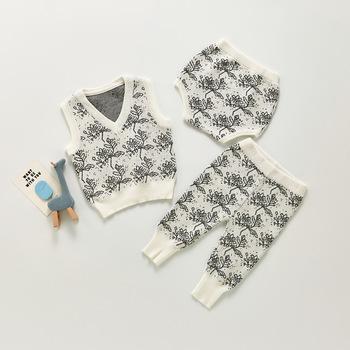 Wiosna jesień zima nowe zestawy dla niemowląt niemowlę chłopiec dziewczyna dzianiny umyć haft bawełna kamizelka Bloomer spodenki spodnie Kid tanie moda znosić tanie i dobre opinie Colorful Childhood MATERNITY W wieku 0-6m 7-12m 13-24m CN (pochodzenie) Wiosna i jesień Dziecko dla obu płci COTTON V-neck