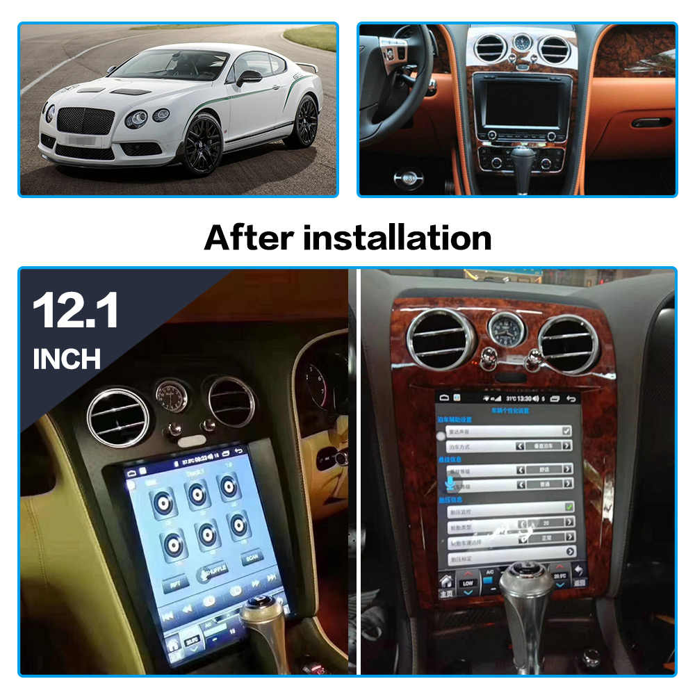 [SCHEMATICS_43NM]  Android 8.1 Tesla style GPS navigation For Bentley Continental 2005 2018  auto radio stereo Multimedia player Tape recorder Unit| | - AliExpress | Bentley Continental Audio Wiring |  | AliExpress