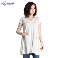 Ajiacn radiation proof 100% silver fiber maternity dress pregnant woman at work computer EMF shielding maternity clothes