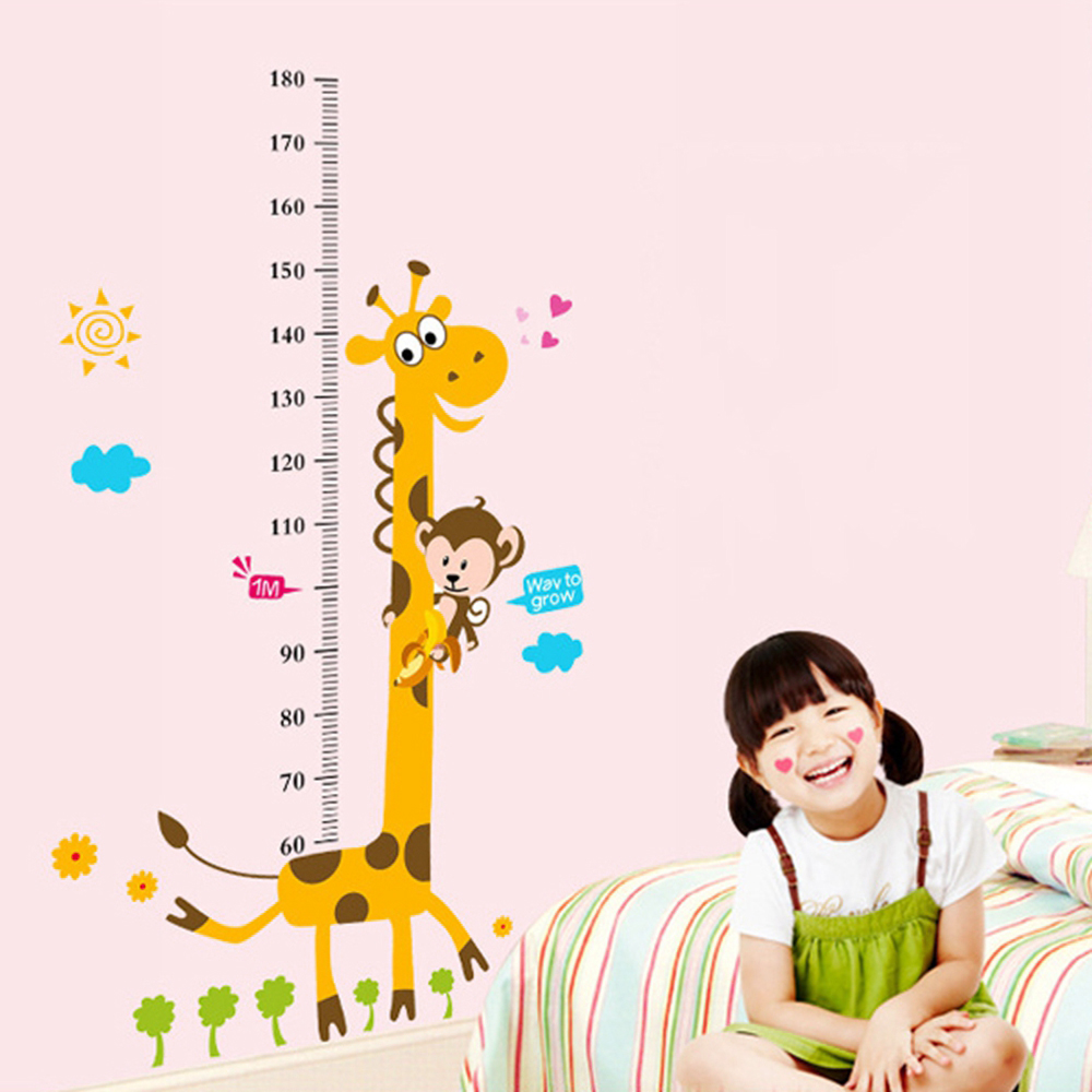 Removable Height Chart Measure Wall Sticker Decal Kids Baby Child Room Decor