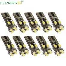 10X canバスキセノンホワイト194 3528 8 smd no obcエラーフリーの自動ledインテリアライト電球バックアップライト駐車ランプcob led電球