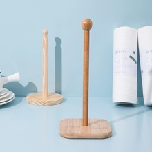 Storage-Accessories Roll-Paper-Towel-Holder Vertical-Stand Toilet Napking-Pack Wooden