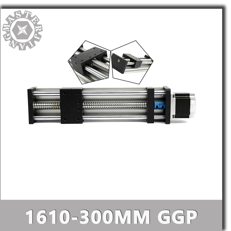 SFU1610-300mm ПГА линейные направляющие рельсы с линейным приводом Системы модуль стол шарико-винтовая пара устроить 300 мм SFU1610 путешествия Длина ...