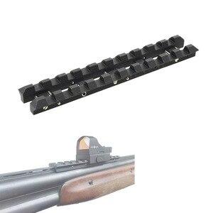 Accesorio de montaje de acero para TOZ-34 riel ventilado 8 mm a adaptador de montaje Picatinny tejedor VI008