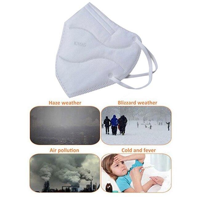 2Pcs ears wearing Protective Mask KN95 Mask Antivirus Flu KN95 Mask Anti PM2.5 Fog Dust Mask 5