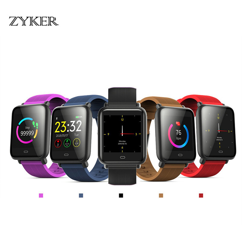 ZYKER Smartwatch Multi-Dial Waterproof Sports For Android IOS With Heart Rate Monitor Blood Pressure Men Women Smart Watch New