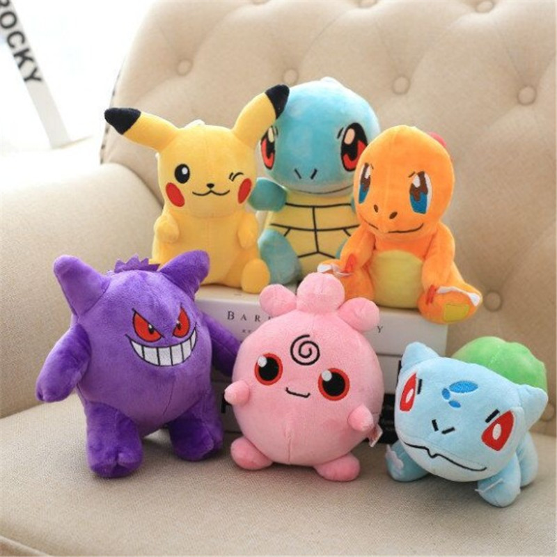 10 Different Styles Pokemon 20CM Gift Collection Animal Plush Stuffed Toys Dolls Action Figures Model For Children