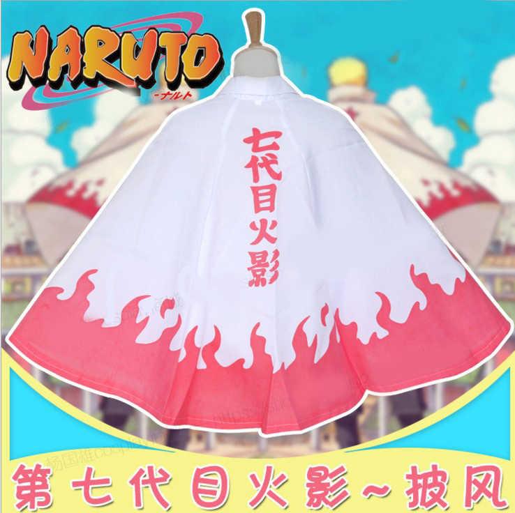 Dibujos animados de Hokage Anime Uzumaki Naruto capa Akatsuki patrón con capucha Manteau Shippuden Cosplay accesorios regalos de Navidad para Hombres Nuevo