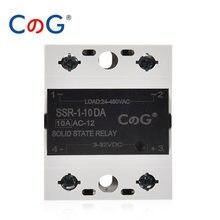 CG Solid State Relay 10A 25A 40A DA Single Phase DC To AC Heat Sink For 3V 12V 32VDC Load 24V 48V 220V 480VAC SSR-10DA 25DA 40DA