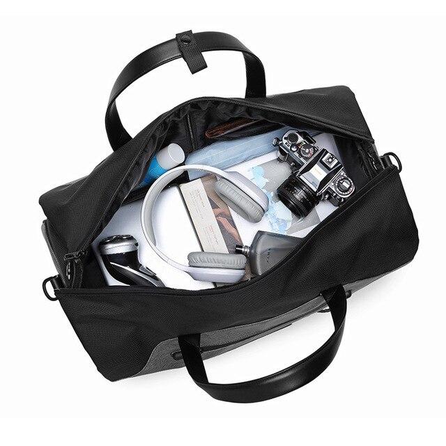OZUKO Travel Bag Multifunction Men Suit Storage Large Capacity Luggage Handbag Male Waterproof Travel Duffel Bag Shoes Pocket 5
