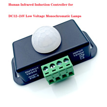 цена на DC12V/24V Body Infrared PIR Motion Sensor Switch Human Motion Sensor Detector Switch controller For LED light