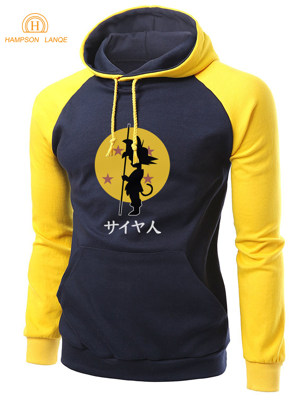 Japan Anime Dragon Ball Z  Harajuku Raglan Hoodies 2020 Autumn Winter   Warm Fleece Loose Fit SSweatshirt Men