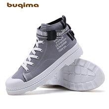 Buqima High Quality Winter Mens Martin Boots Warm Snow Work Retro Shoes High-Up Fashion Canvas