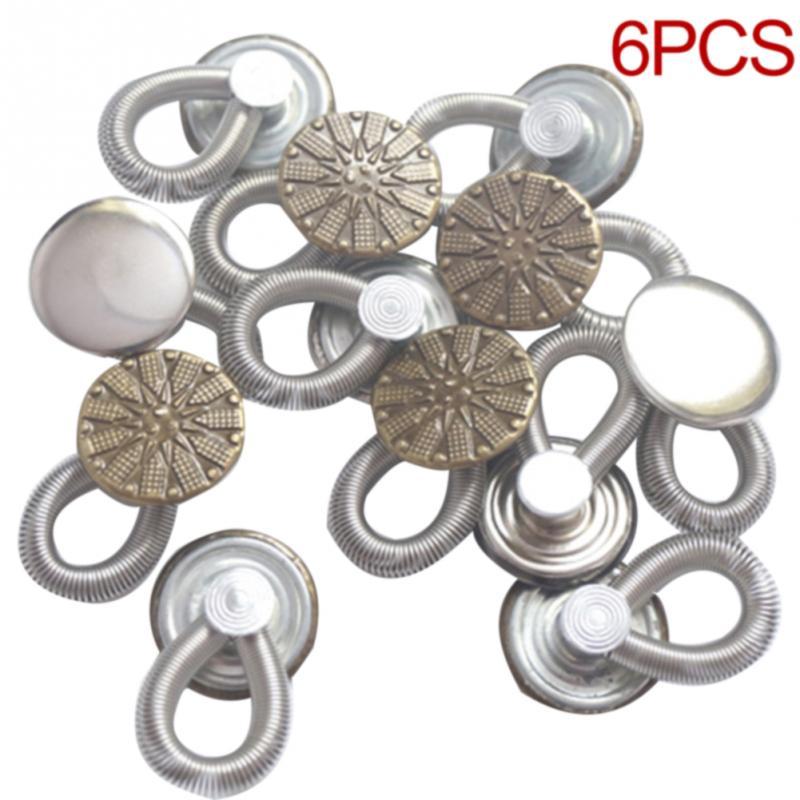 Metal Extenders Waistband Elastic Button for Coat Pants Dress Shirt Collars