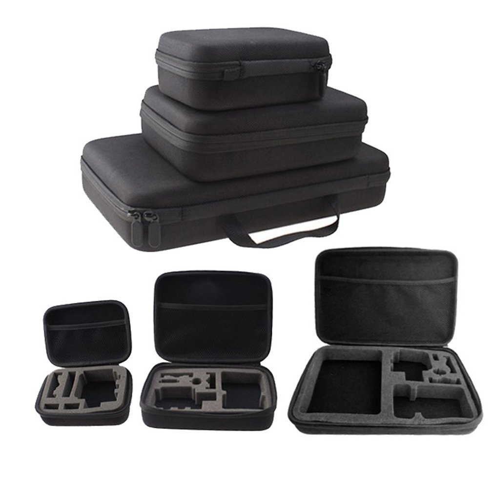 Portable Carry Case Hard Bag Sports Camera Accessory Anti-shock Storage Bag for Go pro Hero 3/4 SJCAM Action Camera
