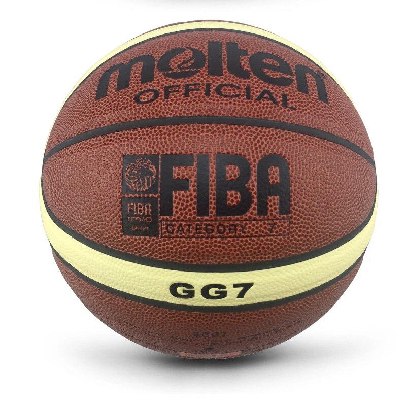 Баскетбольный мяч GL7 из полиуретана, оптом и в розницу, официальный размер, с сетчатым чехлом и иглой, новый бренд, дешево-3