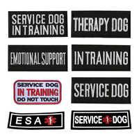 ESA therapy-Parche de entrenamiento para perros, parche adhesivo con emblema, arnés y chaleco para perros, apliques insignias