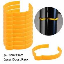 Ehdis 8/11cm fibra de carbono filme de vinil clipe loop janela matiz decalque papel de parede coleta anel embrulho carro rolo vinculação aro ferramenta