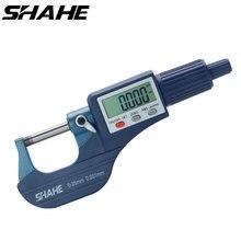 Shahe 0 25/25 50/50 75/100 millimetri Micron Digitale al di fuori Micrometro Elettronico micrometro calibro 0.001 millimetri di strumenti digitali pinza