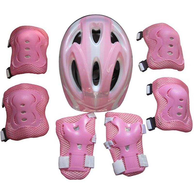 7set Boys & Girls Kids Skate Cycling Bike Safety Helmet Knee Elbow Pad 5-15Y