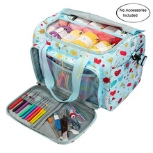 Printed Embroidery Storage Bags Large Capacity Household Knitting Organizer Crochet Hooks Sewing Tools Thread Yarn Case Holder