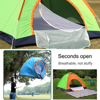 Outdoor Automatic Tents Camping Waterproof Tents Beach Hiking Tent with Carry Bag Army Green Orange For Family Friend Girlfriend