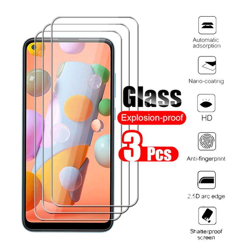 3pcs protective glass for samsung a11 m11 screen protector for galaxy m a 11 a115 m115 tempered glas