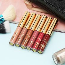 BEAUTY GLAZED 6pcs/Set Portable Professional Makeup 6 Colors Matte Liquid Lipstick Beauty Glazed Lip Gloss Kit 2019 HOT(China)