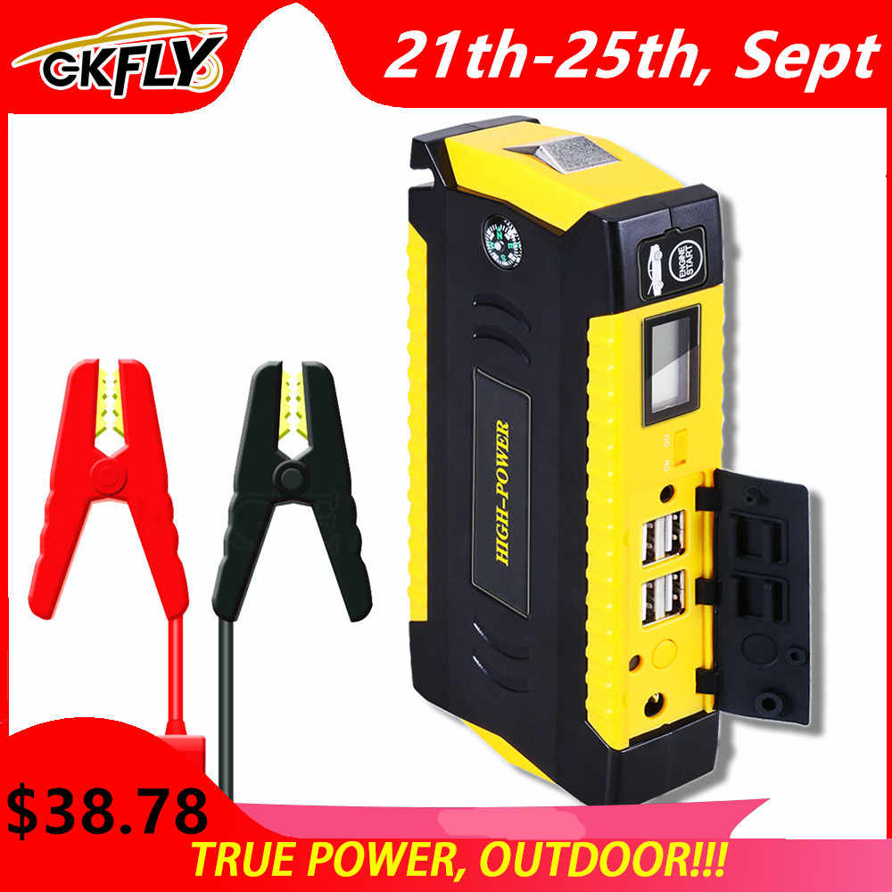 GKFLY urządzenie do uruchamiania awaryjnego samochodu Power Bank przenośny wzmacniacz do akumulatora samochodowego ładowarka 12V urządzenie zapłonowe benzyna rozrusznik samochodowy Diesel Buster