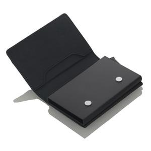 Image 3 - Cizicoco Kreditkarte Halter 2020 Neue Aluminium Box Karte Brieftasche RFID PU Leder Pop Up Karte Fall Magnet Carbon Faser geldbörse