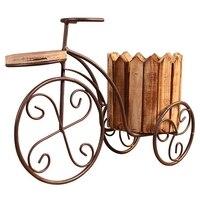 Pulpit sadzarka doniczka ogrodowa narzędzia ogrodowe dekoracja wnętrz europejski kutego żelaza rower stojak na kwiaty doniczka Craft w Doniczki i skrzynki do kwiatów od Dom i ogród na