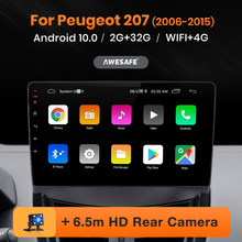 Leitor de vídeo estereofônico bluetooth 2 din autoradio navegador awesafe px9 para peugeot 207 2006-2015 rádio do carro android 2din multimídia