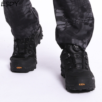 Esdy Men Winter Boots Men Military Boots Quick Response Boots Combat Ankle Boot Army Work Shoes Tactical Boots Men Shoes