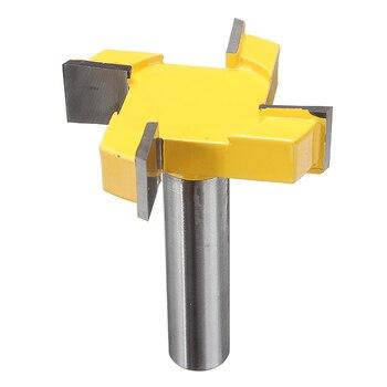 цена на 1pcs Small Lock Miter Router Bit Anti-kickback 1/2 Inch Shank Tenon Cutter for Woodworking Milling Cutter