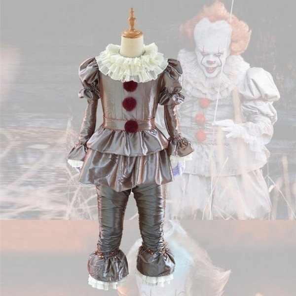 Joker Pennywise Cosplay Costume Stephen King Si Capitolo Due 2 Orrore Pagliaccio di Halloween Del Partito Del Costume Prop