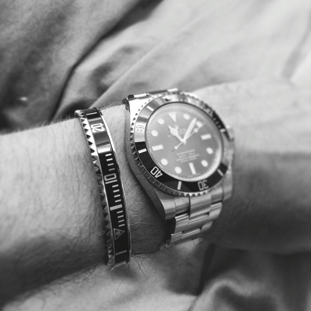 Zifferblatt Stahl Tacho Armbänder Armreifen für Frauen Edelstahl Armreif Manschette Uhr Lünette Mann Pulseiras Bijoux Femme Schmuck