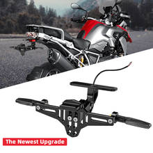 KEMiMOTO Motorcycle Fender Eliminator Adjustable License Plate Holder Bracket LED For HONDA CBR125R R1200GS F850GS F750GS F 850G
