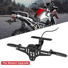 KEMiMOTO eliminador de guardabarros para motocicleta, soporte para matrícula ajustable, LED, para HONDA CBR125R R1200GS F850GS F750GS F 850G