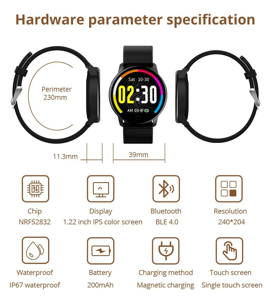 Makibes T5 PRO Advanced Milanese magnetic Fitness Tracker Smart Watch Blood Pressure Monitor Smartwatch Fashion PK Q8 Bracelet13