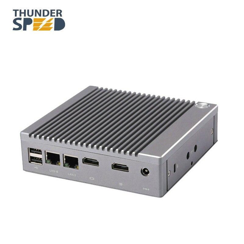 Neue Ankunft THUNDERSPEED 6USB Celeron N2940 Mini PC Windows 10 mini HTPC mini-computer 2HDMI Linux i3 i5 i7 TV box pc