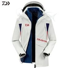 Daiwa Рыболовная куртка зимняя термальная Лоскутная рыболовная рубашка Водонепроницаемая подводка 3 в 1 две части Мужская одежда для рыбалки на открытом воздухе