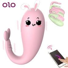 OLO – vibromasseur en forme de monstre à 8 vitesses, application Bluetooth, contrôle sans fil, gode oeuf vibrant point G, jeux pour adultes, jouets sexuels pour femmes