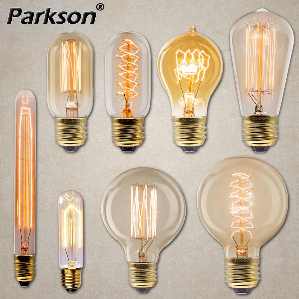 Edison Light Bulb E27 40W 220V T45 ST64 G80 G95 Ampoule Vintage Retro Bulb Edison Lamp Incandescent Filament Industrial Decor
