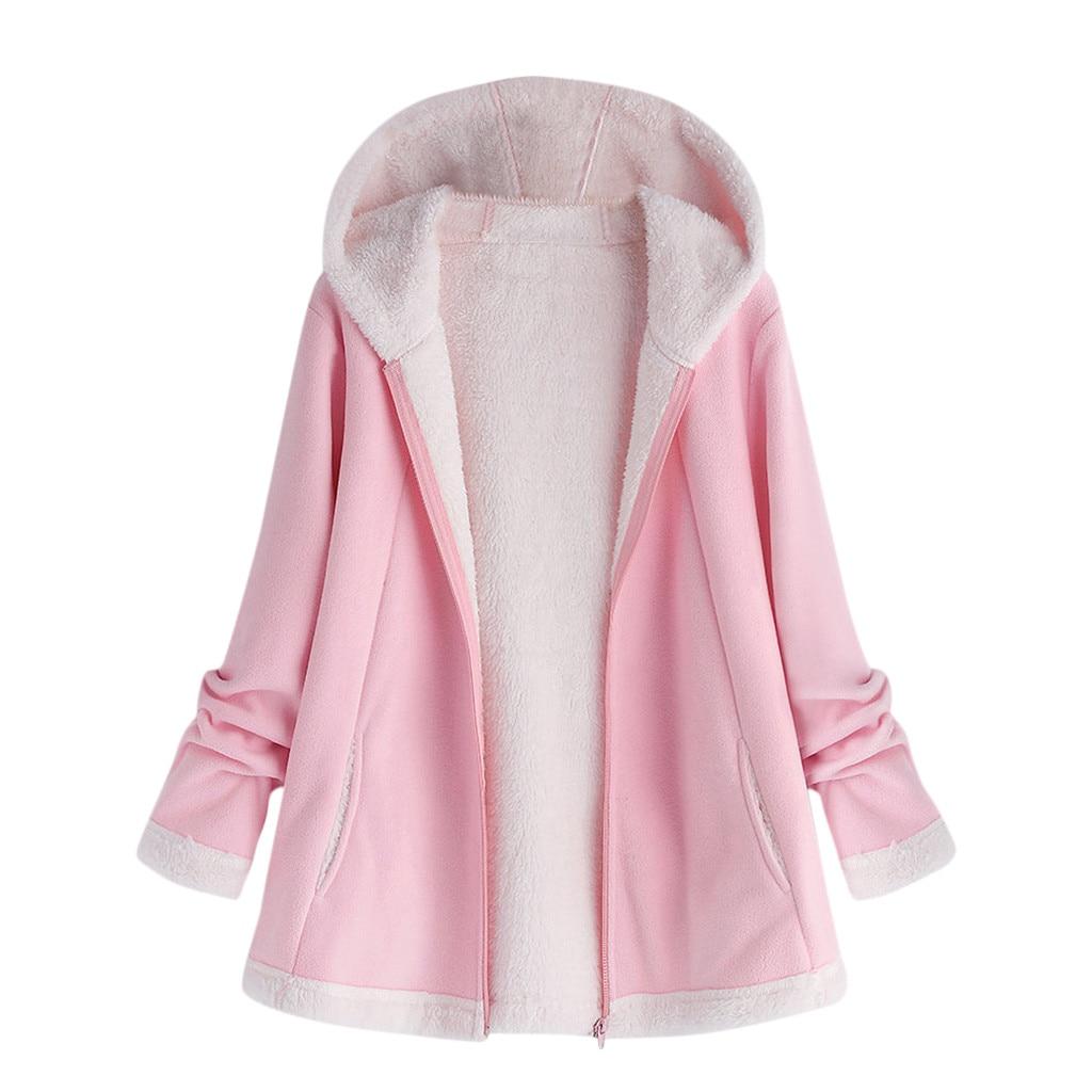 JAYCOSIN 2019 Fashion Women Zipper Hoodie Autumn And Winter Coats And Jackets Hooded Pocket Zipper Long Sleeve Coat