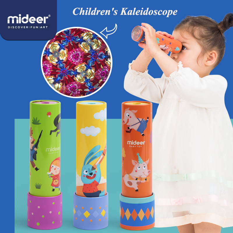MiDeer Kaleidoscope Toy 2-4 Years Old Classic Toy Kids Puzzle Toys Kaleidoscope Unisex Creative Parent-child Interaction