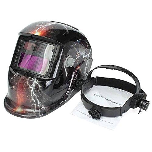 Tools : lightning skull Solar powered automatic welding mask