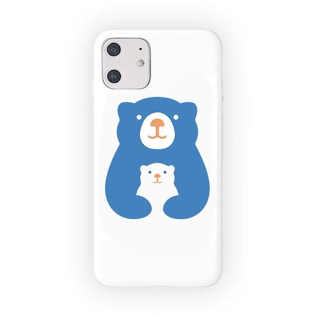 Mignon dessin animé Animal ours polaire étui de téléphone pour iPhone 11 Pro Max XR X Xs Max 7 8 6 6S Puls cas blanc couverture en Silicone souple