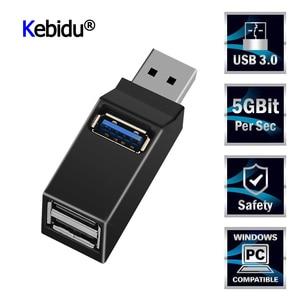 Portable Mini 3 Ports USB 3.0 Hub haute vitesse transfert de données séparateur boîte adaptateur pour MacBook Pro PC ordinateur Portable multi-port USB Hub